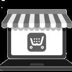 icone de vente en ligne de clic and collect